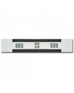 $25 Color Bar Design Straps with No Denomination