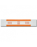 $50 Color Bar Design Straps with No Denomination