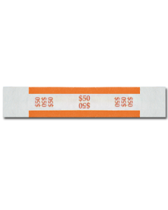$50 Color Bar Design Straps with No Denomination