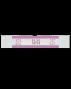 $2,000 Color Bar Design Straps with no Denomination