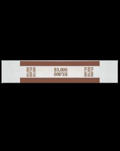 $5000 Color Bar Design Straps with no Denomination