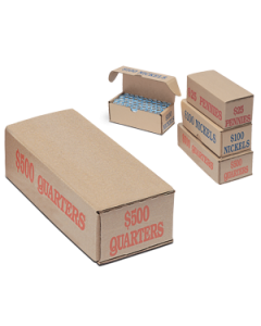 Quarters Coin Storage and Shipping Box
